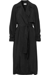 The Row Kareem Belted Shell Trench Coat Black