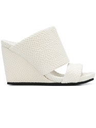 Peter Non Heeled Wedge Sandals White