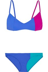 Araks Elsa And Enel Color Block Triangle Bikini Blue
