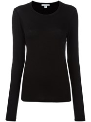 James Perse Long Sleeve T Shirt Black
