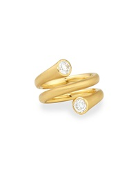 18K Gold Wrap Ring With Diamonds Carelle