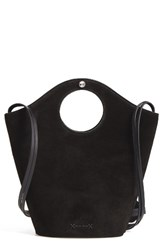 Elizabeth And James Small Market Leather Suede Shopper