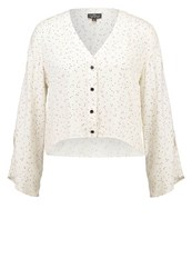 Topshop Petite Holly Blouse Cream Off White