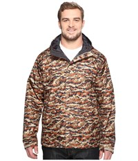 Columbia Big Tall Watertight Printed Jacket Rustic Brown Camo Men's Coat Animal Print