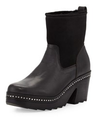 Rag And Bone Nelson Fur Lined Clog Boot Black Black Shearl