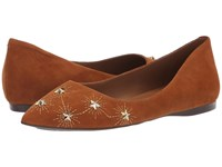 French Sole Cunning Flat Cuoio Suede Shoes Tan