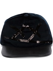 Marc Jacobs Sequins Embroidered Cap Black