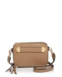 Melie Bianco Finn Camera Crossbody Taupe Gold