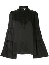 Andrew Gn Embroidered Flared Blouse 60