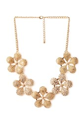 Forever 21 Frosted Floral Bib Necklace