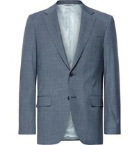 Canali Storm Blue Slim Fit Wool Suit Jacket Storm Blue