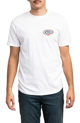 Rvca Looped Graphic T Shirt White