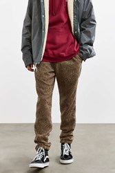 Urban Outfitters Uo Brushed Speckled Tweed Cozy Jogger Pant Light Brown