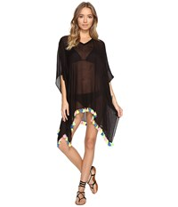 Bindya Neon Tassel Cover Up Dress Black Women's Dress