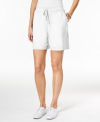 Karen Scott Petite Drawstring Shorts Only At Macy's Bright White