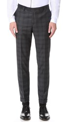 The Kooples Check Suit Trousers Grey
