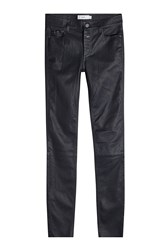 Closed Skinny Leather Pants Blue