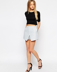 Girls On Film Quilted Wrap Skort Blue