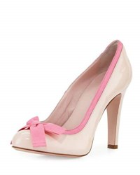 Red Valentino Fabric Bow Patent 105Mm Pump Light Pink