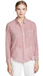 Rails Farrah Button Down Scarlet Check