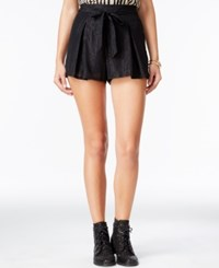 Be Bop Juniors' Metallic Shorts Black