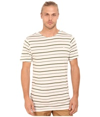 Publish Onex Heathered Striped Short Sleeve Knit Olive Men's Short Sleeve Knit