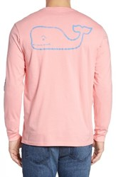 Vineyard Vines Men's Pocket Long Sleeve T Shirt Strawberry Blonde