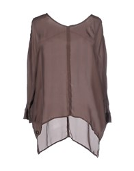 Manila Grace Shirts Blouses Women Dark Brown