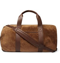 Brunello Cucinelli Suede And Full Grain Leather Holdall Tan