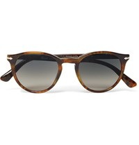 Persol Round Frame Tortoiseshell Acetate Sunglasses Brown