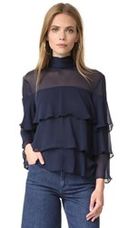 Endless Rose High Neck Top Navy