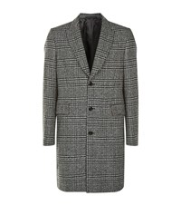 Paul Smith Donegal Check Tweed Overcoat Grey
