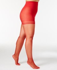 Berkshire Plus Size Shimmer Control Top Hosiery 4412 Red