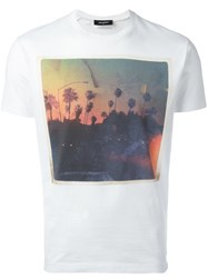 Dsquared2 Palm Tree Road Trip T Shirt White