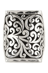 Lois Hill Sterling Silver Filigree Cutout Saddle Ring Size 7.5 Metallic