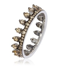 Annoushka Brown Diamond White Gold Crown Ring Female Silver