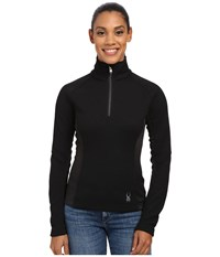 Spyder Valor Half Zip Mid Weight Core Sweater Black Silver Women's Sweater