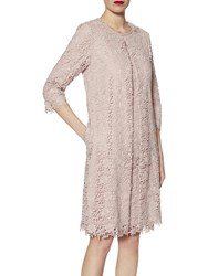 Gina Bacconi Primrose Guipure Lace Coat Ballet Pink
