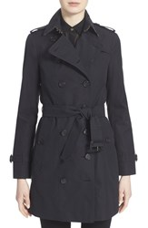 Women's Burberry London 'Sandringham' Slim Trench Coat Navy