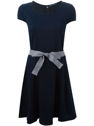 Petit Bateau Bow Detail Dress Blue