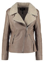 Maze Nata Faux Leather Jacket Cognac
