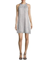 Vince Camuto Sequin Shift Dress Silver
