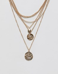 Stradivarius Multi Gold Chain Necklace