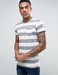 Solid Striped T Shirt Rust Orange