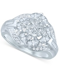 Macy's Pie Cut Diamond Engagement Ring 1 1 2 Ct. T.W. In 14K White Gold