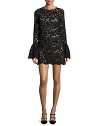 Alexis Rustam Lace Mini Dress Black