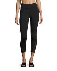 Michi Apex Mesh Panel Crop Performance Legging Black