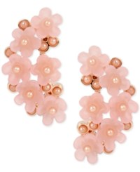 Inc International Concepts M. Haskell For Rose Gold Tone Imitation Pearl Flower Cluster Drop Earrings Only At Macy's