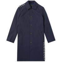 Craig Green Laced Bonded Long Coat Blue