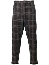 Junya Watanabe Comme Des Garcons Man Woven Check Trousers Black